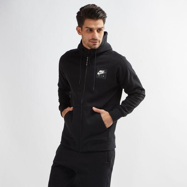 Shop Black Nike Air Fleece Hoodie for Mens by Nike  3bd3b57171