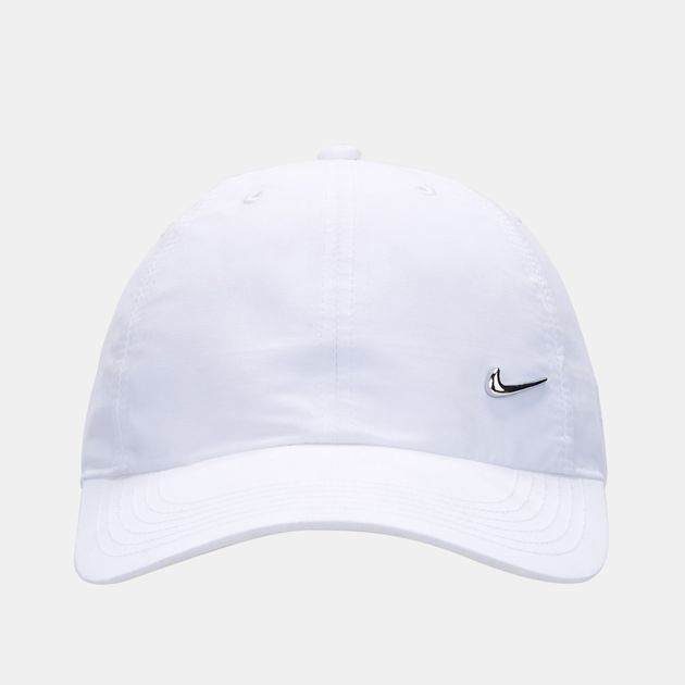 1ed4581a8043 Shop White Nike Kids  86 Metal Swoosh Cap for Kids by Nike