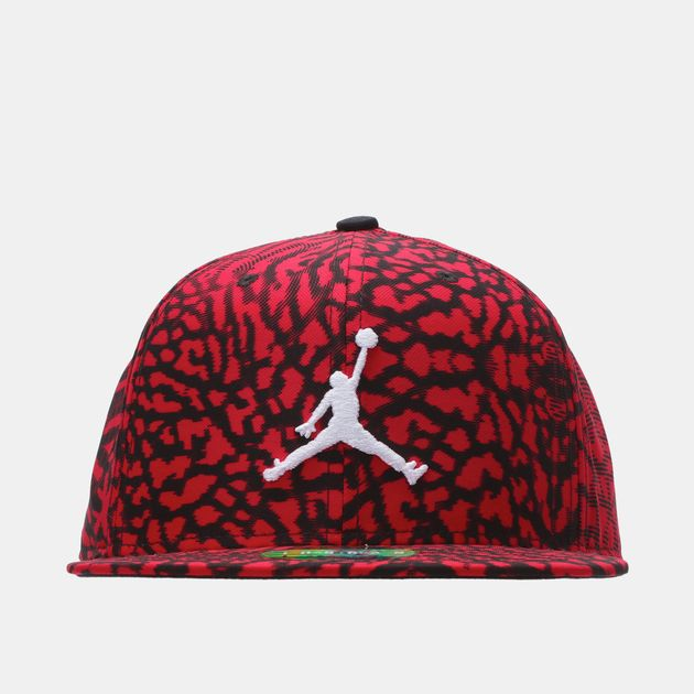 afcd2b60d2835a Shop Red Jordan Jumpman Seasonal Snapback Cap for Mens by Please ...