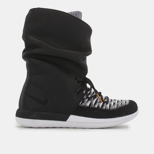 bb42f84b488ff Shop Black Shop Black Nike Roshe Two Hi Flyknit Shoe for Womens by ...