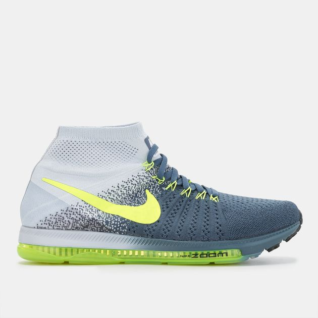 różne wzornictwo popularne sklepy pierwsza stawka Shop Blue Nike Air Zoom All Out Flyknit Shoe for Mens by ...