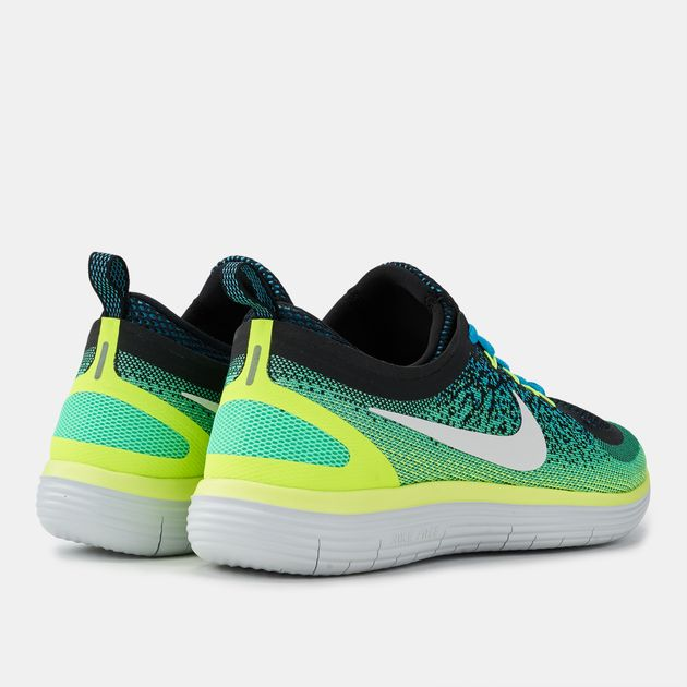 new product 7c53b 075f1 Shop Green Nike Free RN Distance 2 Running Shoe for Mens by ...