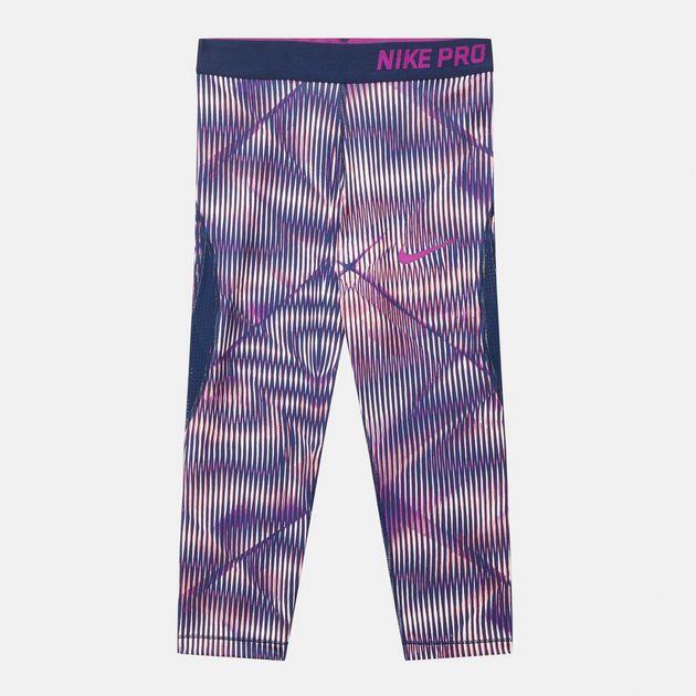 139ffd0cf38578 Shop Orange Nike Kids' Pro Hypercool Capri Leggings for Kids by Nike ...
