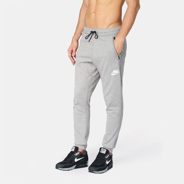4d1fef4be7ae Shop Grey Nike Sportswear AV15 Fleece Jogger for Mens by Nike