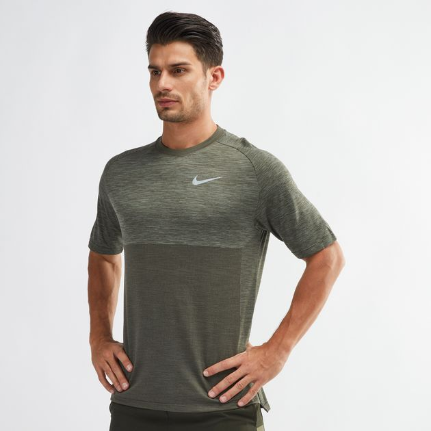 14e1d555 Shop Green Nike Dri-FIT Medalist Running T-Shirt for Mens by Nike   SSS