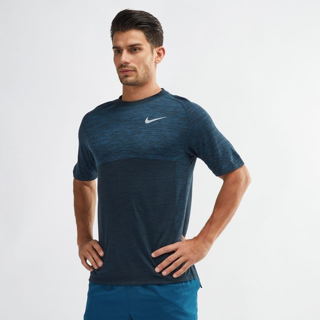 bc478d76 Shop Blue Nike Dri-FIT Medalist Running T-Shirt for Mens by Nike   SSS