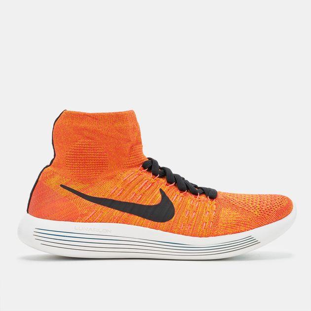 big sale acff3 61b95 Shop Orange Nike Lunarepic Flyknit Running Shoe for Mens by ...
