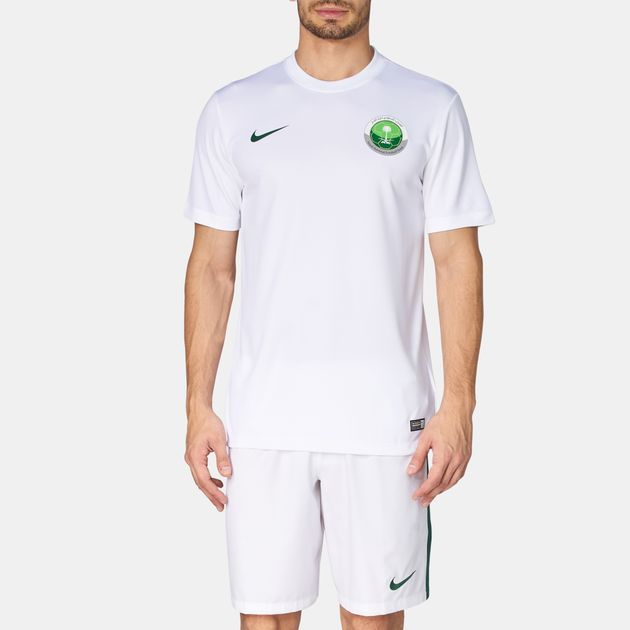 outlet store 5c653 4d40c Shop White Nike Saudi National Football Team Jersey T-Shirt ...