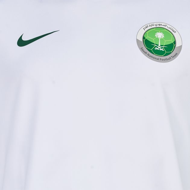 outlet store 68cbd a1e37 Shop White Nike Saudi National Football Team Jersey T-Shirt ...