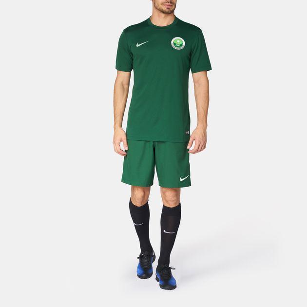 buy popular df12c a2abc Shop Green Nike Saudi National Football Team Jersey T-Shirt ...