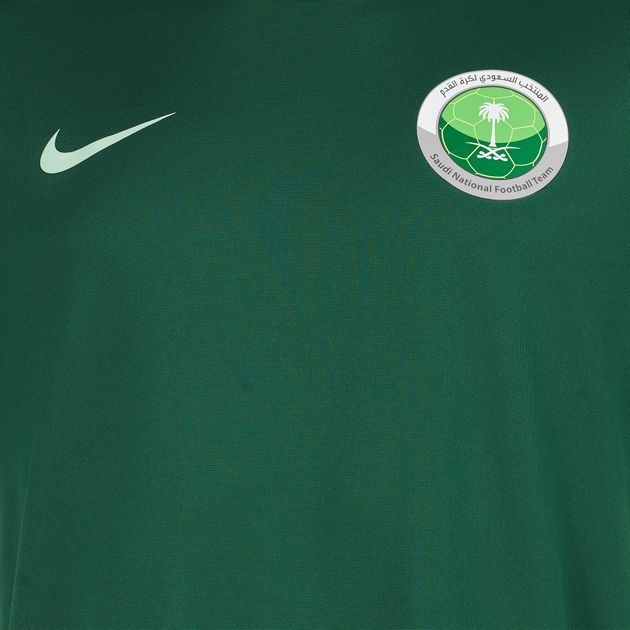 buy popular 78c2f d8000 Shop Green Nike Saudi National Football Team Jersey T-Shirt ...