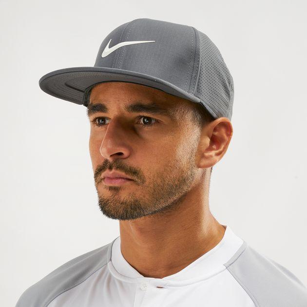 45ad2af5c251e Shop Grey Nike Golf Aerobill Pro Cap | Caps | Caps and Hats ...