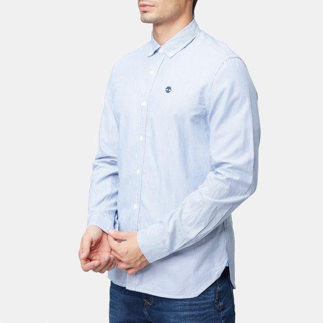 3c442db15 تسوق قميص لونجبوينت خفيف الوزن والمخطط من تمبرلاند للرجال لون Blue ...
