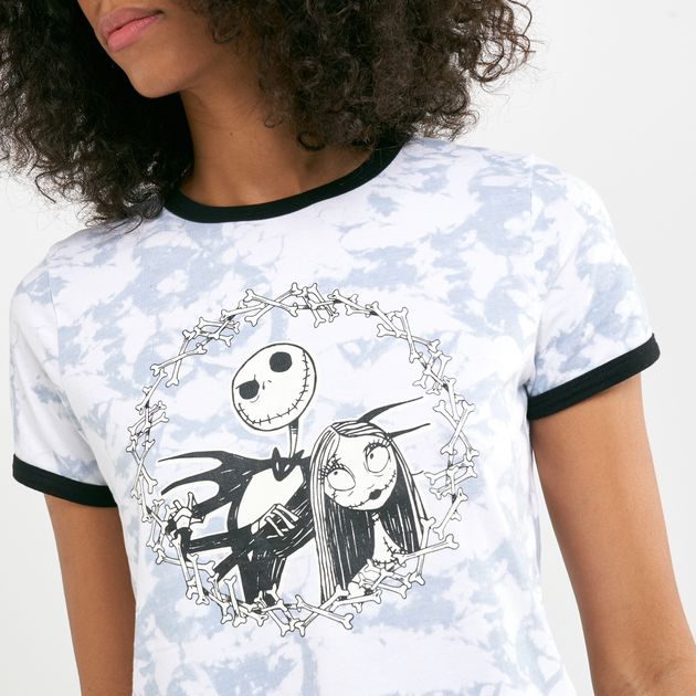 Vans Women's X The Nightmare Before Christmas Jack And Sally Ringer T Shirt