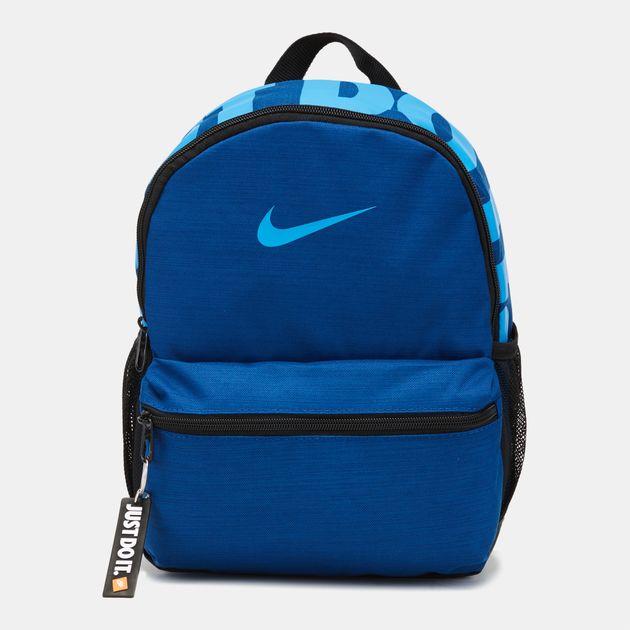 Nike Kids' Brasilia Just Do It Backpack (Mini) - Blue