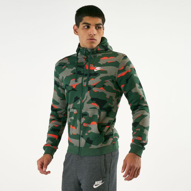 3f0239cb4792 Nike Men s Sportswear Club Camo Hoodie