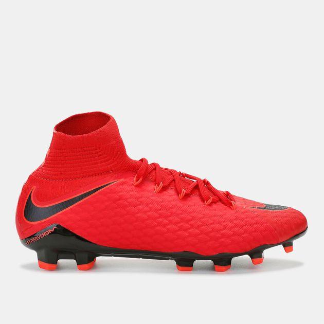 magasin en ligne c431a a79c6 Shop Red Nike Hypervenom Phatal III Dynamic Fit Firm Ground ...