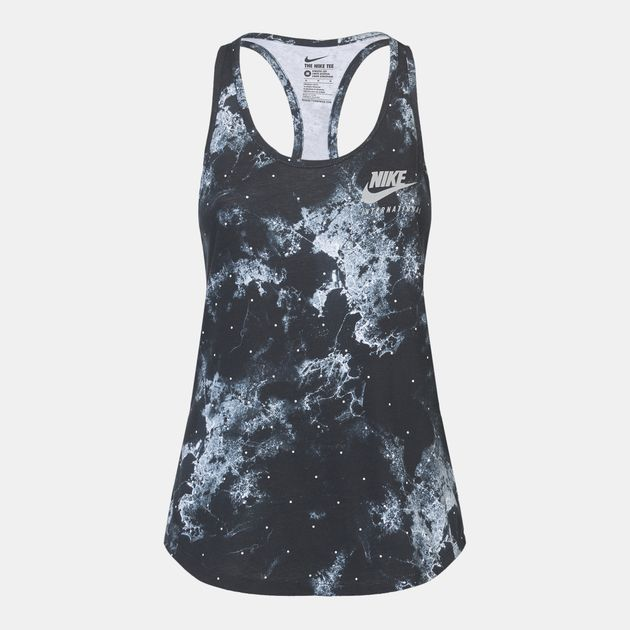 Shop Black Nike Running Rio AOP Tank Top for Womens by Nike  511a482173f