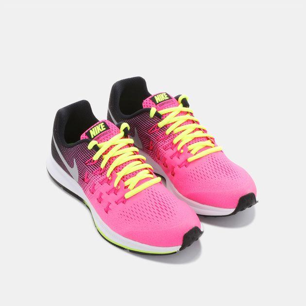 a02bc76eb Shop Pink Nike Kids  Air Zoom Pegasus 33 (Grade School) Running Shoe ...