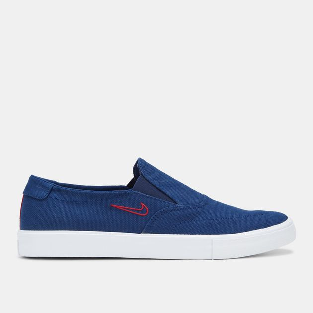 3b4c4c79d56a Shop Blue Nike SB Portmore 2 Solarsoft Slip-On Skateboarding Shoe ...