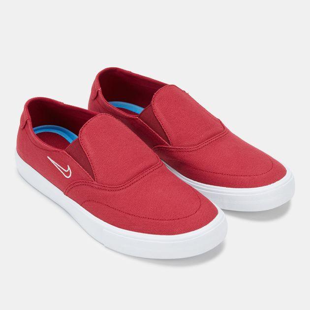 53fc5925a29 Shop Red Nike SB Portmore 2 Solarsoft Slip-On Skateboarding Shoe ...