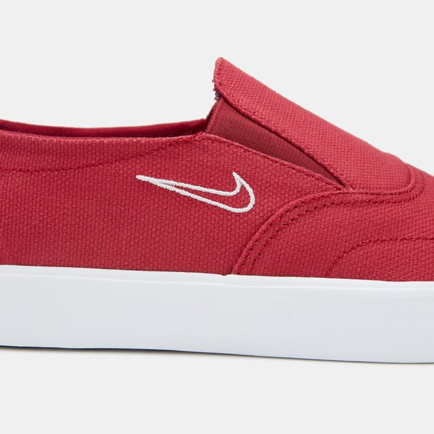 53fc5925a29 Shop Red Nike SB Portmore 2 Solarsoft Slip-On Skateboarding Shoe ...