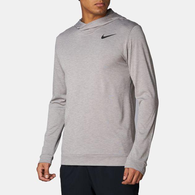 65625298 Shop Grey Nike Breathe Hyper Dry Long Sleeve Training T-Shirt for ...