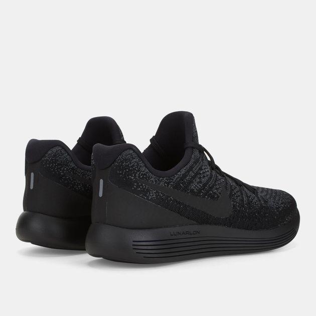 online retailer 1eed3 9fc0f Shop Black Men's Nike LunarEpic Low Flyknit 2 Running Shoe ...