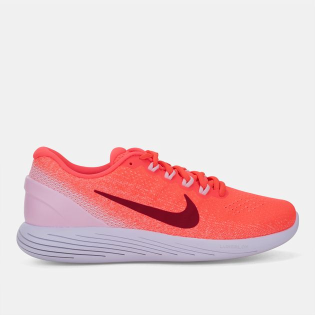 3d4ddfdbef29 Shop Orange Nike LunarGlide 9 Running Shoe for Womens by Nike
