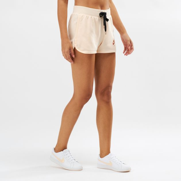 4f1e89ac018a6 Shop Beige Nike Air Fleece Shorts | Shorts | Clothing | Womens | SSS