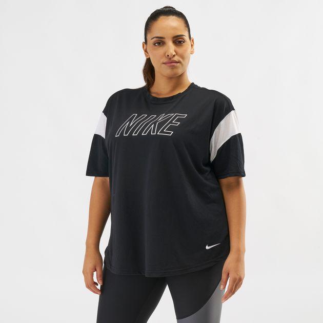 a2cd12a98cf47 Shop Black Nike Dry Graphics T-Shirt (Plus Size) | T-Shirts | Tops ...