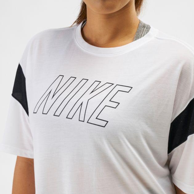 25c8c4981a8d5 Shop White Nike Dry Graphics T-Shirt (Plus Size) | T-Shirts | Tops ...