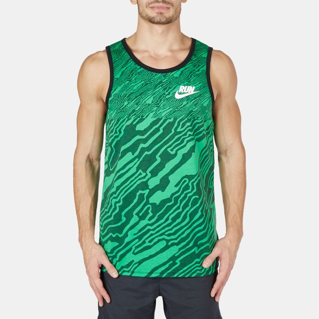 Nike Run Printed Refine Running Tank Top