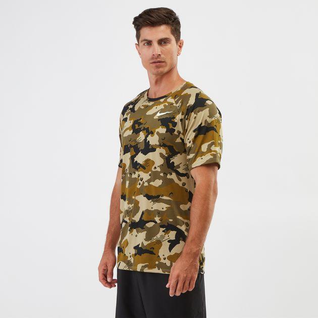 8f0c6bfa Shop Green Nike Dry Legend Camo AOP T-shirt | T-Shirts | Tops ...