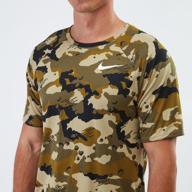 35269017 Shop Green Nike Dry Legend Camo AOP T-shirt | T-Shirts | Tops ...
