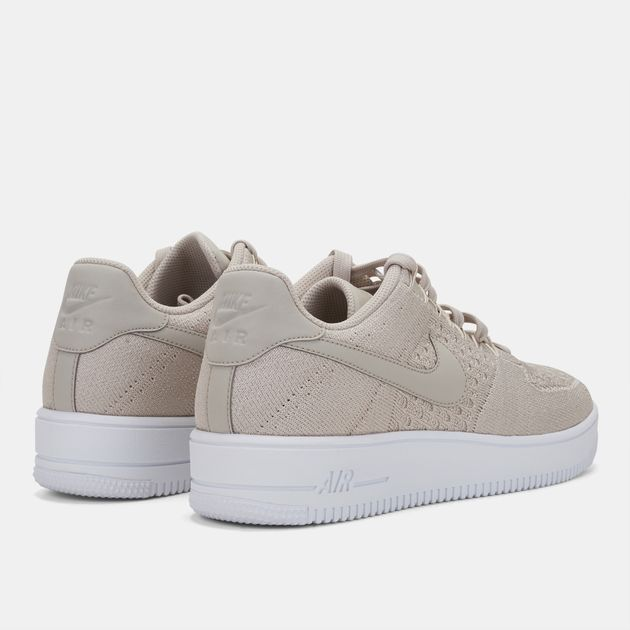best sneakers 10eb5 bfa71 Shop Beige Nike Air Force 1 Flyknit Low Top Shoe for Mens by ...