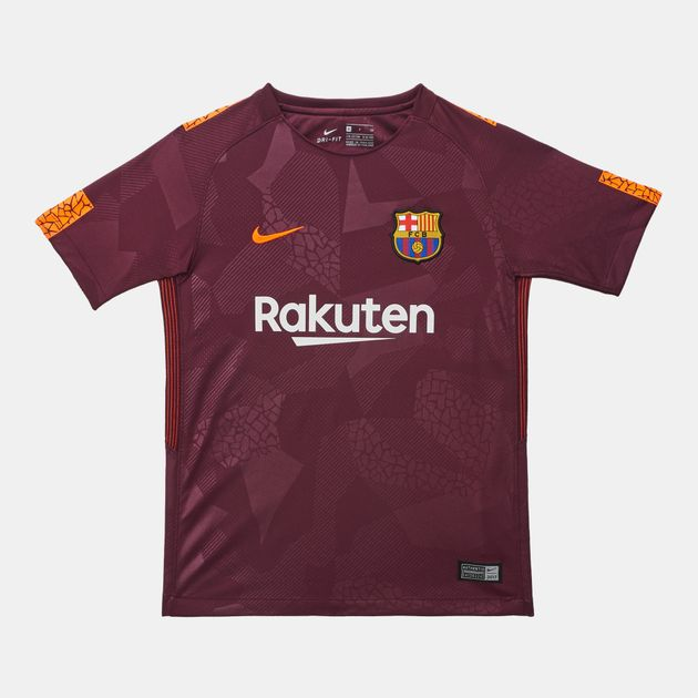 new style 6bc0a 10e51 Shop Red Nike Kids' Breathe FC Barcelona Stadium Third ...