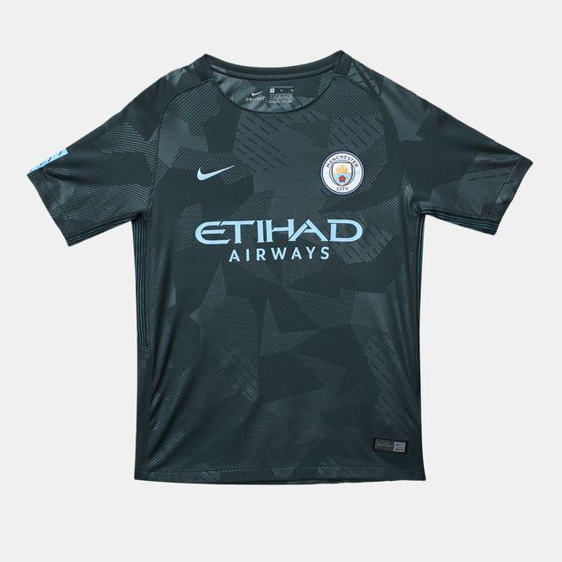watch 8025e 23e91 Shop Green Nike Kids' Manchester City FC Third Stadium ...