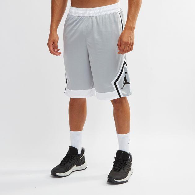 3cc5127b101c Shop Grey Jordan Rise Diamond Shorts for Mens by Nike