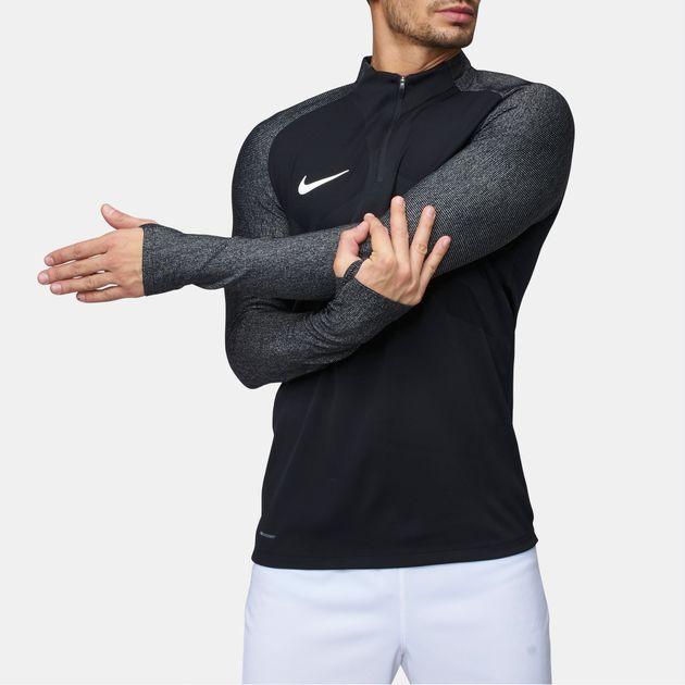 b3090ac7 Shop Black Nike AeroSwift Strike Drill Football Long Sleeve T-Shirt ...