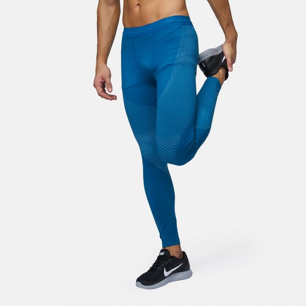 2d6bf625ffef8 Shop Blue Nike Zonal Strength Running Tights for Mens by Nike | SSS