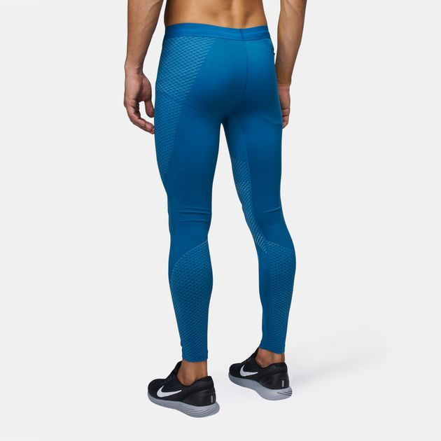 c14113f9e44f55 Shop Blue Nike Zonal Strength Running Tights for Mens by Nike | SSS