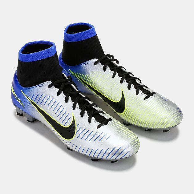 hot sale online 75036 ecf8d Shop Blue Nike Mercurial Victory VI Dynamic Fit Neymar Jr ...