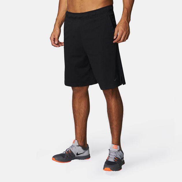 Shop Black Nike Dri-FIT Cotton Shorts for Mens by Nike  9fa19ff6968f