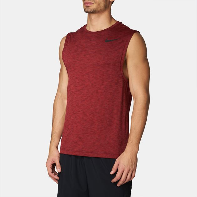 eaf8e4b05 Shop Red Nike Dry Breathe Muscle Hyper Tank Top for Mens by Nike | SSS