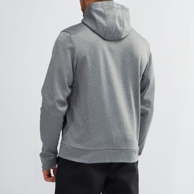 aa5dfbe071f Shop Grey Jordan Therma 23 Alpha Full-Zip Basketball Hoodie for Mens ...