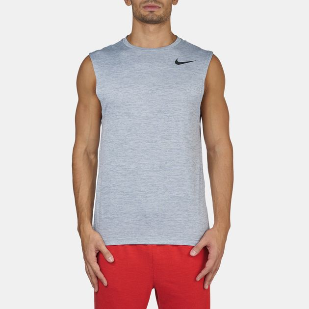 0bd5968746fb0 Shop Grey Nike Dri-FIT Training Muscle Tank Top for Mens by Nike