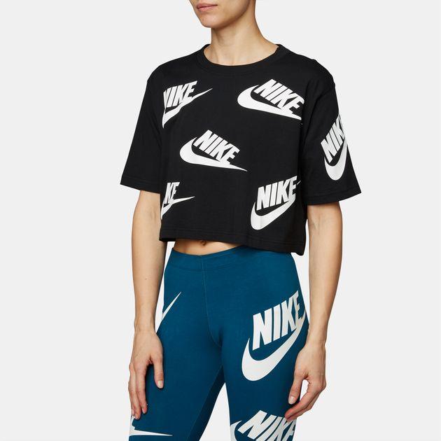 645a93c00f8 Shop Black Nike Sportswear Futura Toss T-Shirt for Womens by Nike | SSS