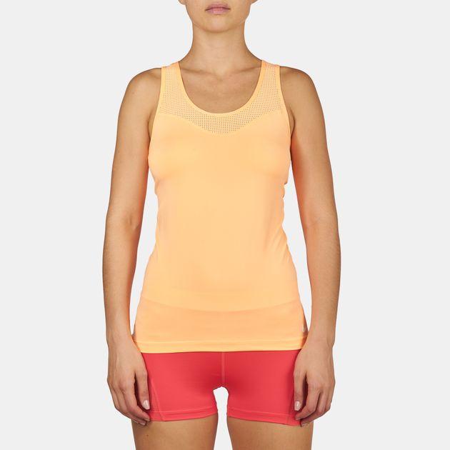6ee7ac71de025 Shop Orange Nike Pro Hypercool Tank Top for Womens by Nike