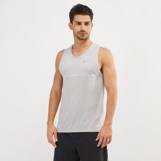 cef287154fa46c Shop White Nike Dri-FIT Medalist Running Tank Top